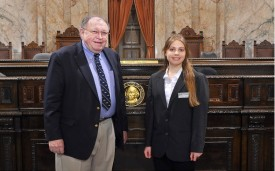 Representative Seaquist and Page: Courtney Telloian
