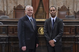 Rep. Van De Wege with Josh Holland