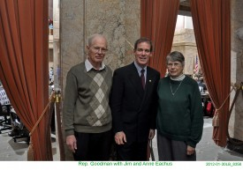 Rep. Goodman with Jim and Anne Eachus