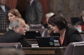 Speaker Chopp with Representative Maxwell