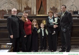 Representative Green and family with Michelle Butler and famiily
