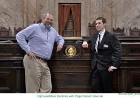 Representative Dunshee with Page Daniel Dzilenski