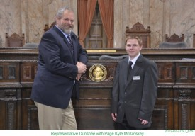 Rep. Dunshee with Page Kyle McKroskey