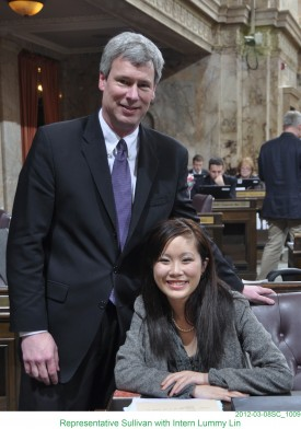 Rep. Sullivan  with Intern Lummy Lin