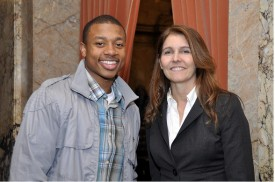 Representative Orwall with guest, Isaiah Thomas