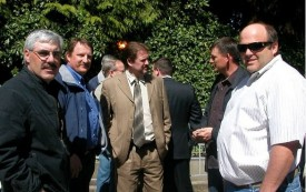 Rep Brian Blake with dairy producers 2009