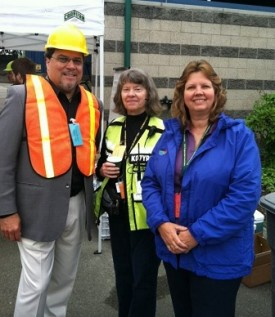 Rep Luis Moscoso at Evergreen Quake 2012 Community Point of Distribution in Lynnwood