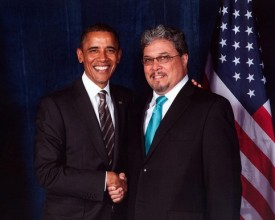 Rep Luis Moscoso with President Barack Obama - NALEO Florida 2012