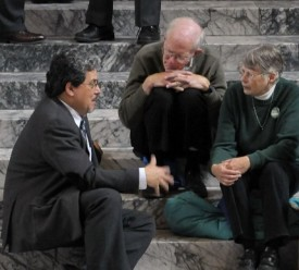 Rep Luis Moscoso with constituents, 2011 Session