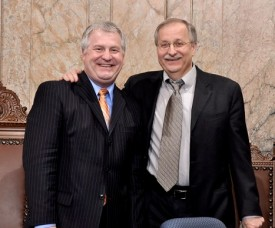Speaker Chopp and Rep Jeff Morris, 2010 Session