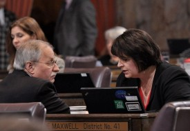 Speaker Chopp with Rep Marcie Maxwell, 2012 Session