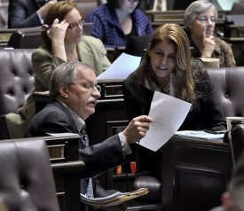 Speaker Chopp with Rep Tina Orwall, 2010 Session