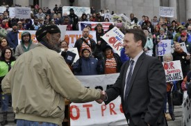 Rep. Upthegrove is recognized at the MLK rally