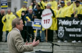 Rep. Steve Tharinger, rally