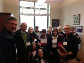 Gael Tarleton meeting with the members of the Faith Action Network