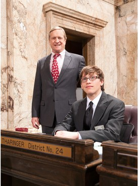 Rep. Tharinger and Jacob Lewis