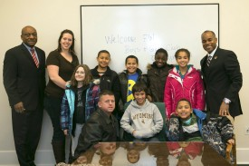 Rep. Roger Freeman with the Federal Way Boys and Girls Club