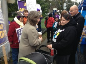 Rep Tarleton with SEIU 1