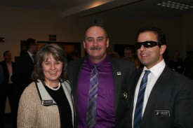 Rep. Gael Tarleton with WACOPS President Craig Bulkley (center) and Rep. Cyrus Habib at the WACOPS 2013 Legislative Reception.
