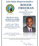 Rep. Freeman to Host Community Social Gathering on March 16th
