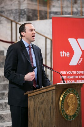 Rep. Riccelli at the YMCA Youth Legislature Proclimation Signing
