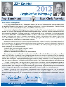 HuntReykdal2012Newsletter