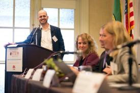 Representative Drew Hansen at the Washington STEM roundtable