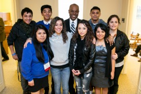 Rep Roger Freeman with students from Thomas Jefferson High School
