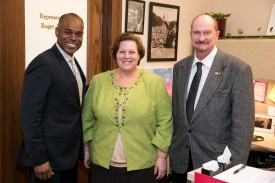 Rep. Freeman with Mayor of Milton, Debra Perry, and Mayor Pro Tem, Bart Taylor