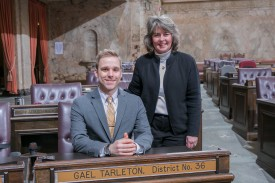 Rep. Tarleton and intern Suhyoon Cho