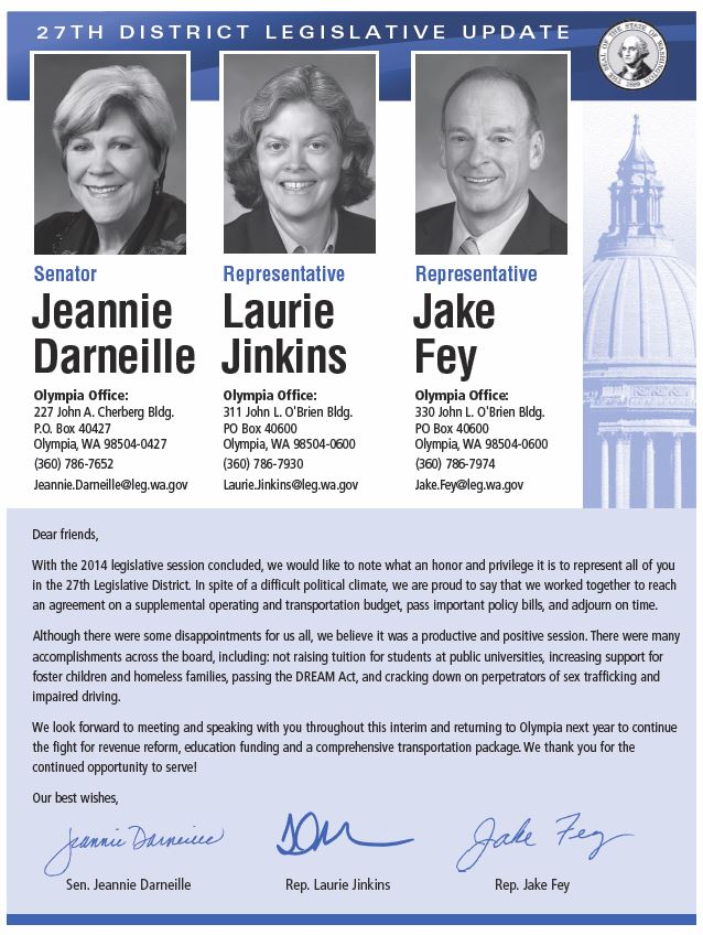 27th District 2014 End of Session Newsletter