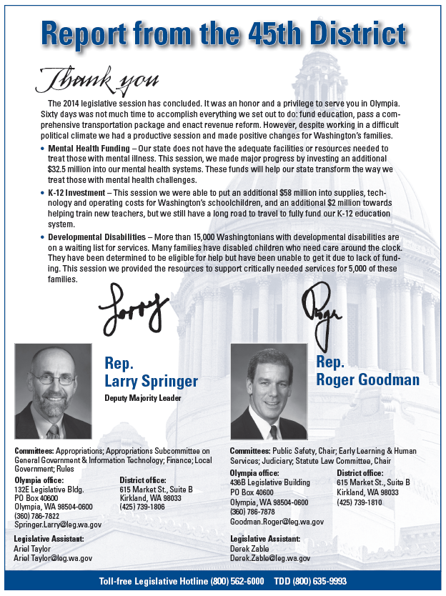 Springer-Goodman 2014 Newsletter