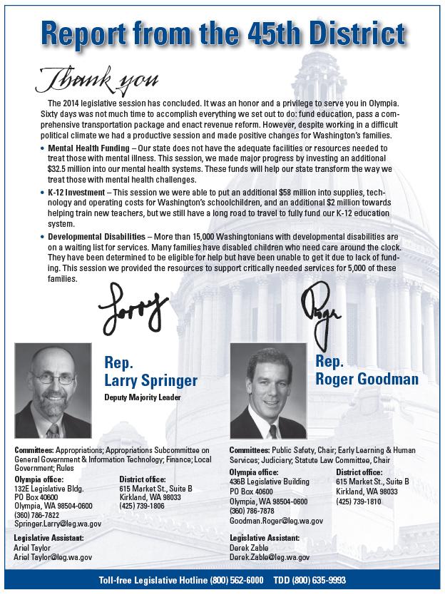 Springer-Goodman 2014 Newsletter