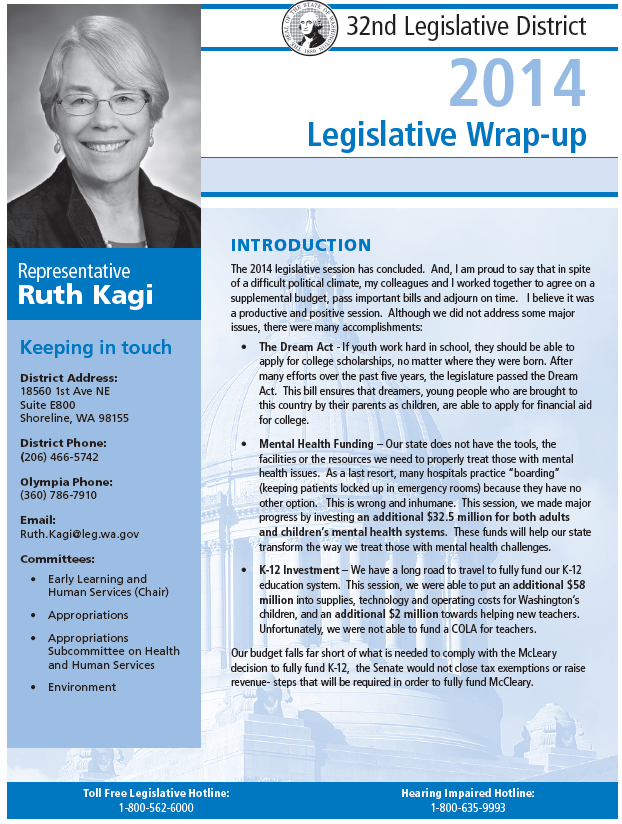Kagi 2014 End of Session Newsletter