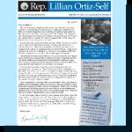 Rep. Ortiz-Self's report to the 21st Legislative District