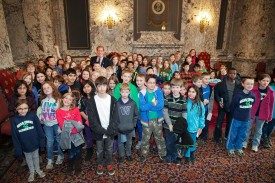 Rep. Goodman with Mrs. Sherman's 4th grade class from Bear Creek Elementary Faith Matthews