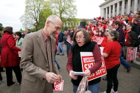 Rep. Springer at the Washington Education Association Rally