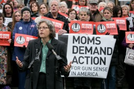 Rep. Jinkins speaking at a gun safety rally
