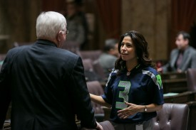 Rep. Monica Stonier Seahawks #BlueFriday