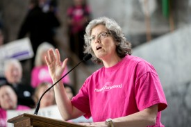 Rep. Jinkins speaking at a Planned Parenthood Rally