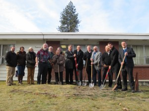 Rep. Riccelli at Peace Valley Groundbreaking