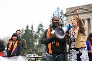 Youth Advocacy Rally at the Washington State Capitol in Olympia, January 29, 2016.