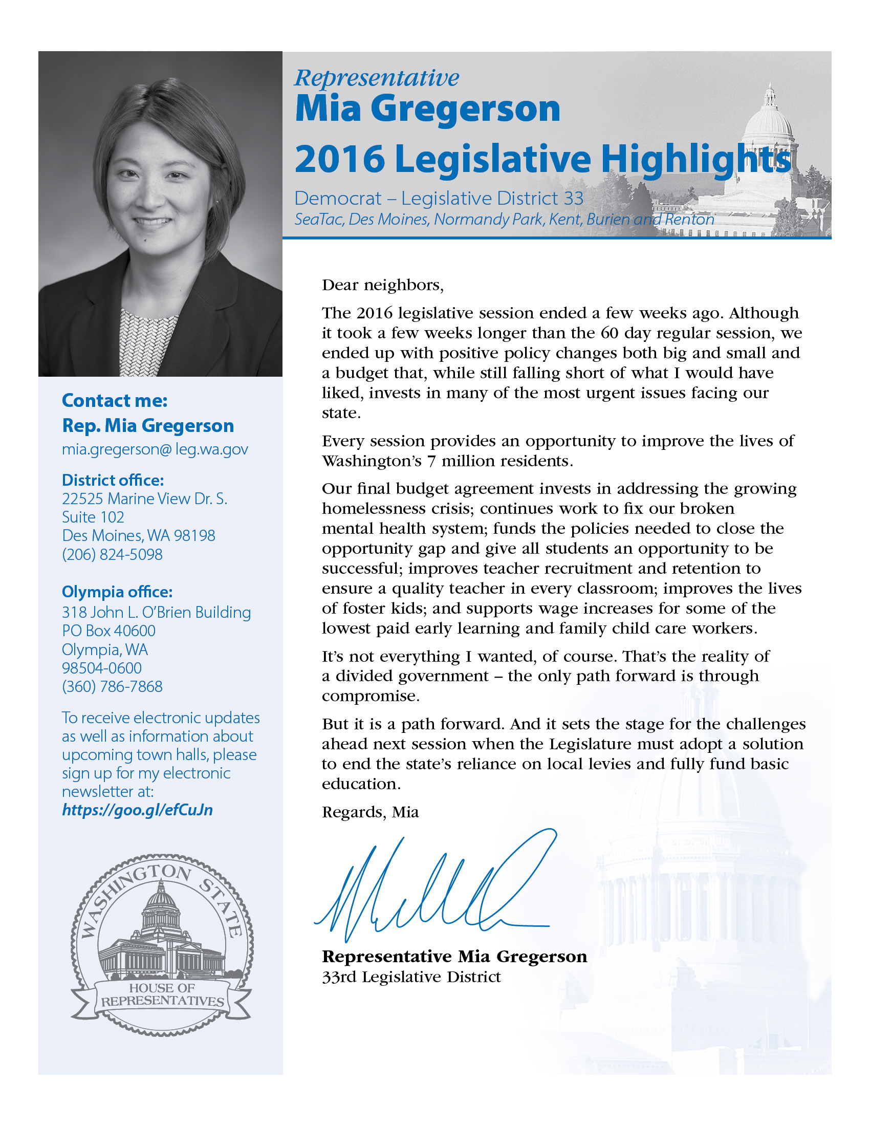 Washington state government for kids -  2016 Eos Newsletter Gregerson Web A4