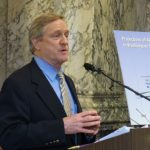 Speaking at the unveiling of the state's Alzheimer's plan.