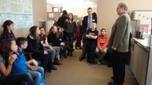 Students from a Boys and Girls Club visiting my office in the House of Representatives.