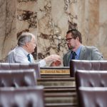 Rep. Brian Blake with Speaker Frank Chopp on the House Floor
