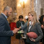 Rep. Tina Orwall with Seattle Seahawk Jermaine Kearse, Feb 15, 2016