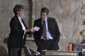 Reps. Eileen Cody and Joe Fitzgibbon
