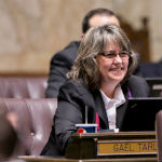 Rep. Gael Tarleton on the House floor for her first piece of legislation