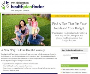 Click on the image to go to the Washington Healthplanfinder official website.